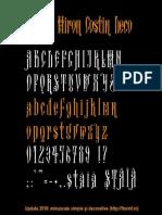 Arhaic Miron Costin Decorativ minuscule