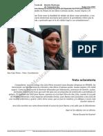 El Acoso de Juan Bueno Torio Carta de La Periodista Ana Lilia Perez