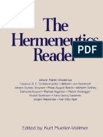 The Hermeneutics Reader
