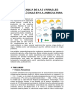 Importancia de Las Variables Meteorológicas en La Agricultura