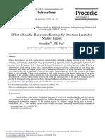 Effect of Lead in Elastomeric Bearings for Structu