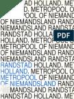 Randstad Holland, metropool of niemandsland
