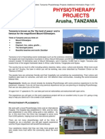 Tanzania Physiotherapy Additional Info Travellers
