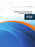 developing a transdisciplinary programme of inquiry 2012