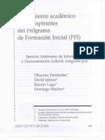 Rendimiento Académico de Los Aspirantes Del Programa de Formación Inicial (PFI)_ Varios Autores