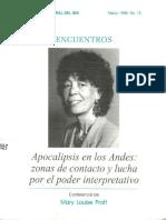 Apocalipsis en Los Andes. Lucha Por El Poder Interpretativo