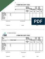 Form Receipt Fuel (Penerimaan Bbm Solar)