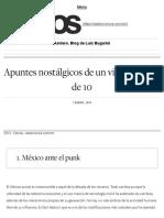 [2018 01 07] Apuntes Nostálgicos de Un Viejo Punk 1 de 10 (Nexos)