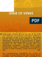 lease of venue