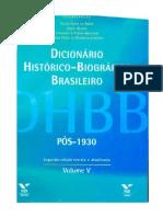 Dicionario Historico Biografico Brasileiro (FGV) - José Serra (PSDB)