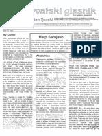 Croatian Herald - Hrvatski glasnik  - June to August 1992 - 1,2,3,4,5,6,7 and 8