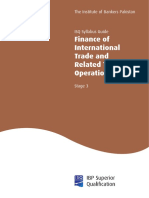 Finance of International Trade Stage 3