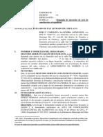 Demanda de Ejecusión de Acta Conciliación.