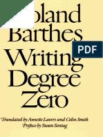 Barthes, Roland - Writing Degree Zero (FSG, 1990)