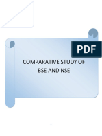 Comparative study of BSE AND NSE