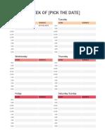 Format Jadwal Harian