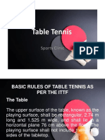 Table Tennis Sports Clinic