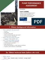 pump performance assesment