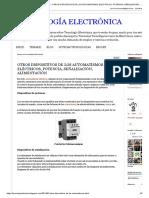 Tecnología Electrónica _ Otros Dispositivos de Los Automatismos Eléctricos, Potencia, Señalización, Alimentación