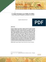 2012 - II SENAL - A Língua Portuguesa nas Malhas da Mídia  a busca da perfeição ortográfica no programa soletrando.pdf