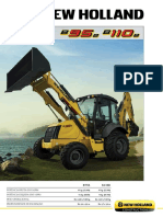 Folheto Tecnico New Holland Retroescavadeiras B95B B110B