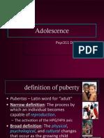 Psyc311 Ch 11-12 Adolescence