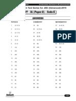 Solutions AIATS JEE(Adv)-2019(P) Test-1A (Code-E & F) Paper-2 (04!11!2018)