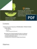 Presentación Salud Colectiva Oral Coordinación del trabajo en salud oral