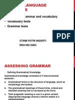 Testing Language Subskills