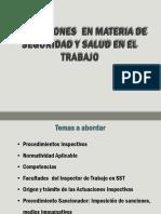Inspecciones Materia Seguridad y Salud en El Trabajo