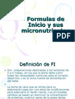 Formulas de Inicio y Sus Micronutrientes