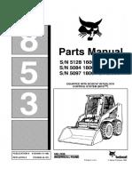 Bobcat 853 Skid Steer Loader Parts Catalogue Manual (SN 509718001 & Above).pdf