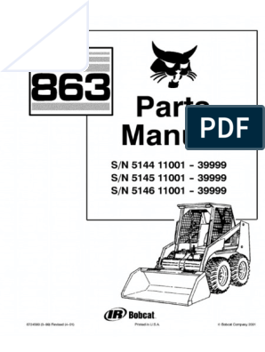 Bobcat 863 Parts Diagram - Electrical Schematic Wiring Diagram