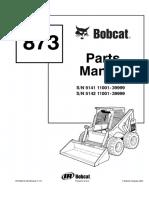 Bobcat 873 F Series Skid Steer Loader Parts Catalogue Manual (SN 5142 11001 - 39999).pdf