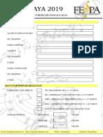 Formulir Pendaftaran FESPA 2019