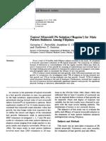 Minoxidil Solution - Pattern Baldness Among Filipinos