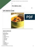 Supă-cremă de Legume - Retete Culinare - Romanesti Si Din Bucataria Internationala