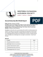 Second Saturday Bird Walk January 12, 2019 at Rocky River Nature Center Report