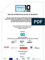 Conferencia 10 Dias de Democracia Global