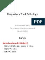 Gambaran Patologi Anatomik Kelainan Sistem Pernapasan