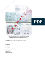 Example Document Certification