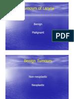 Tumours of Larynx (2)