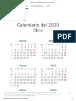 Calendario de Chile Del 2020 _ ¿Cuándo en El Mundo