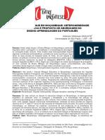 o Ensino Bilíngue Em Moçambique Heterogeneidade Linguística e Proposta de Abordagem Do Ensino Aprendizagem Do Português