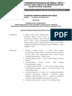 SK BPD Tentang APBdes 2019