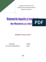 Sistemul de Impozite Si Taxe Locale Din Romania