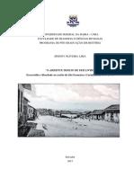 2017. Lima Simony Oliveira. o Ardente Desejo de Ser Livre. Escravidao e Liberdade No Sertao Do Sao Francisco. Carinhanha 1800-1871
