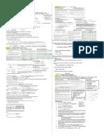 FNCE 317 Formula Sheet - Final