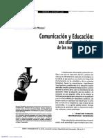 Comunicación y Educación, Una Alianza Estratégica de Los Nuevos Tiempos