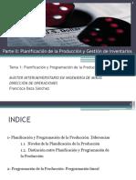 Tema 1. Programación y Planificación de La Producción
